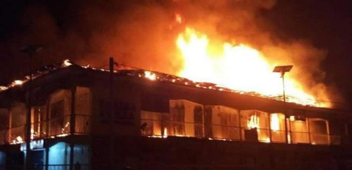 ATBU, Warehouse, JUST IN: Fire Guts Popular Supermarket In Abuja, Fire, Lagos, BREAKING: Another INEC Office Set Ablaze In Imo