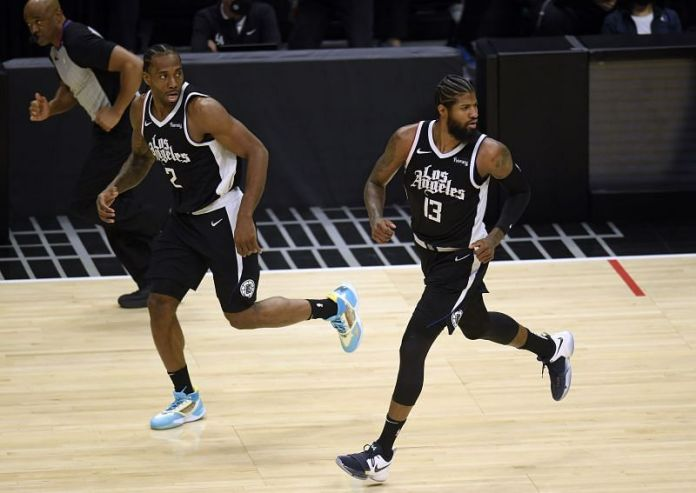 Kawhi Leonard and Paul George of the LA Clippers are up against Utah Jazz.