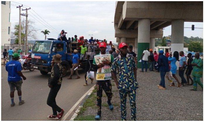 BREAKING: Yoruba Nation Agitators Hold Rally In Ekiti