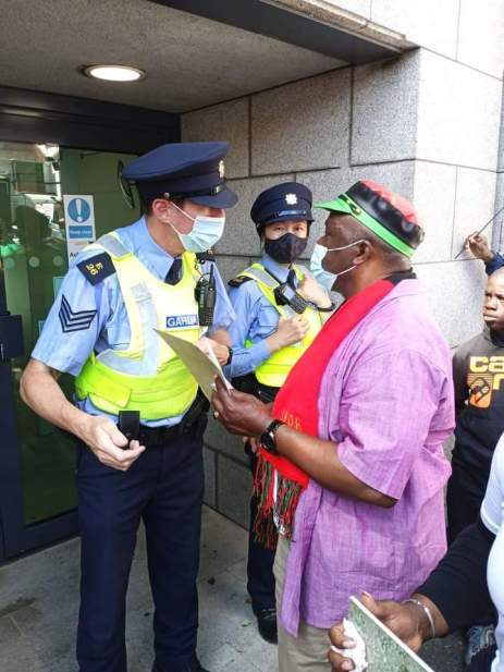 ipob protest at british embassy ireland