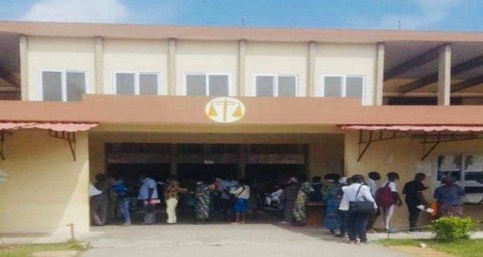 BREAKING: Sunday Igboho's Supporters Storm Court In Cotonou