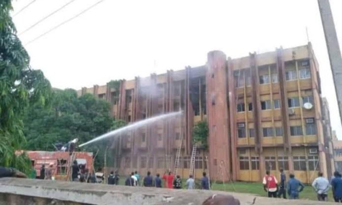 Cars Razed As Fire Guts Federal Secretariat In Abuja