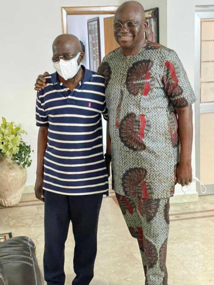 PHOTOS: Fayose Visits Tinubu in Lagos Residence