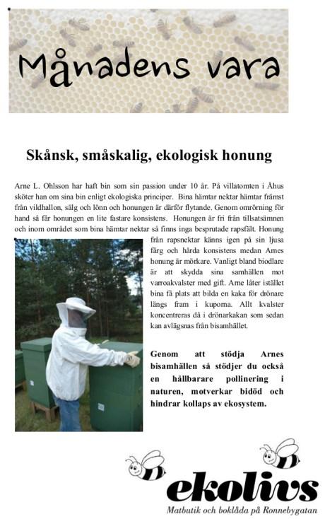 Manadens_vara_Arnes honung