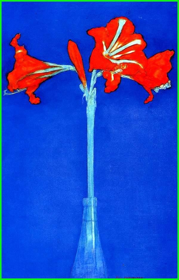 lukisan bunga indah, gambar lukisan naturalisme bunga, contoh lukisan bunga dan potnya