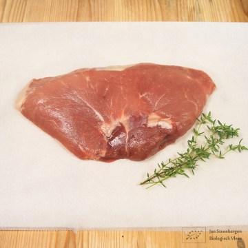 Scharrel varkensvlees - hamlapjes - biologische vlees