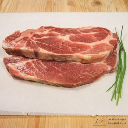 Scharrel varkenvlees Schouderkarbonade biologisch