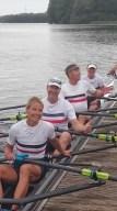 Mixed Doppelvierer Silke Franck, Rolf Zumegen, Bernd Klose, Gaby Schulz