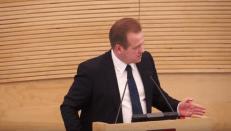 Socialdemokratas A. Skardžius bandys teisme paneigti savo sąsajas su Maskvos mafija. Nuotr. E.eu