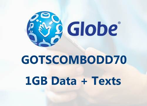 Globe GOTSCOMBODD70 1GB data 70