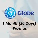 Globe promos for 1 month (30 days) 2019
