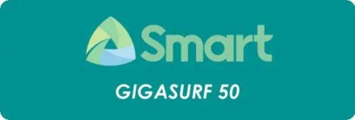 Smart GIGASURF 50 / GIGA 50 Promo Update & Details 2019. Smart GIGA SURF 50 / GIGA50 offers 1GB mobile data + 1GB/Day streaming for 50 pesos.