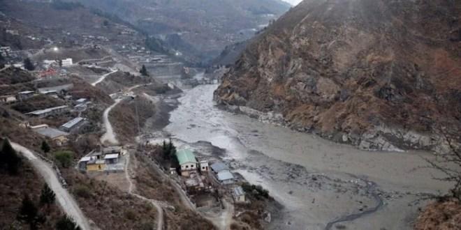 Ice glacier burst in Uttarakhand, India