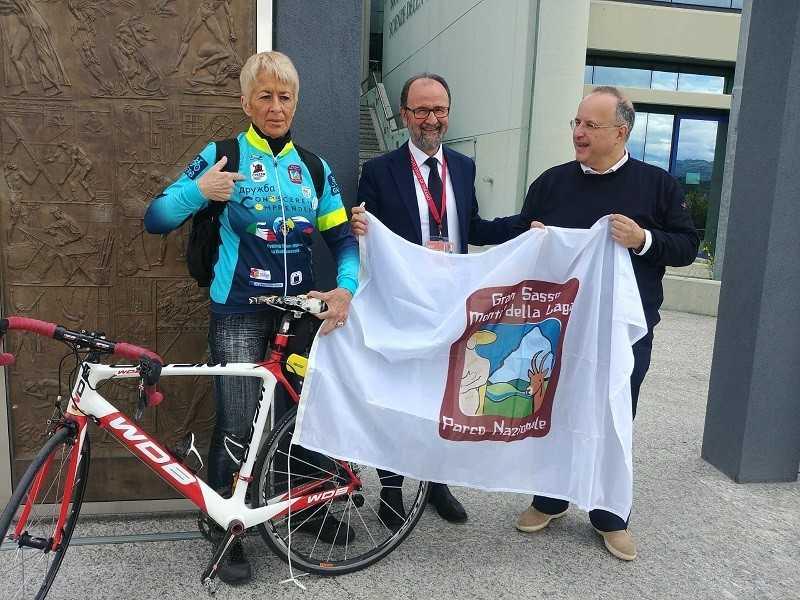 L'Ambasciatrice del Parco Francesca Filippi parte per un nuovo viaggio in bici lungo la viabile Transiberiana