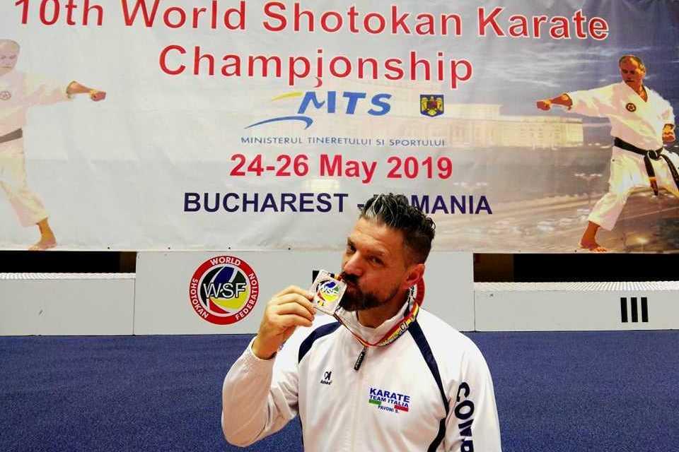Karate, bronzo per l'atleta Sandro Pavoni al Mondiale in Romania