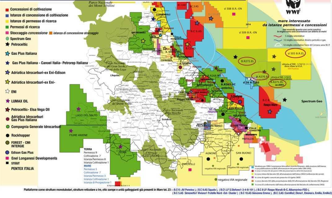 Quattro le istanze di rinuncia nei nostri mari presentate dalla compagnia Petroceltic