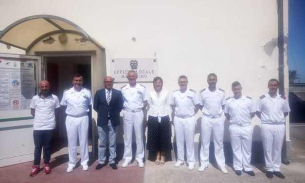 Tortoreto, visita all'Ufficio Locale Marittimo del Comandante Generale del Corpo delle Capitanerie di Porto