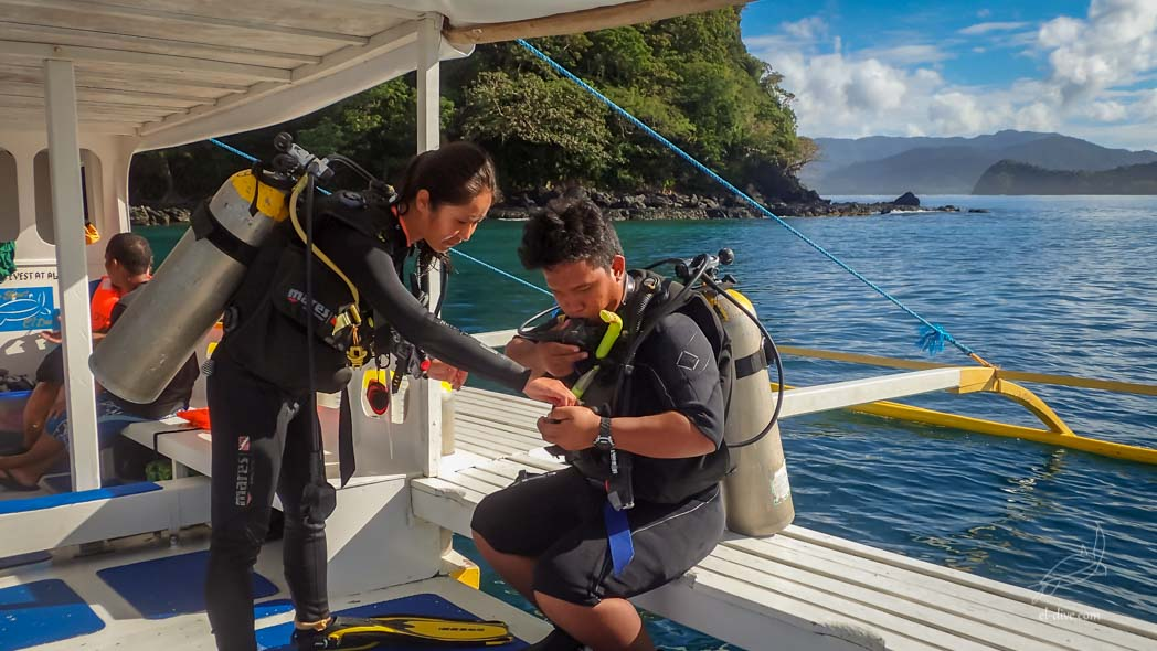 Predive safety check demonstration in front of El Nido