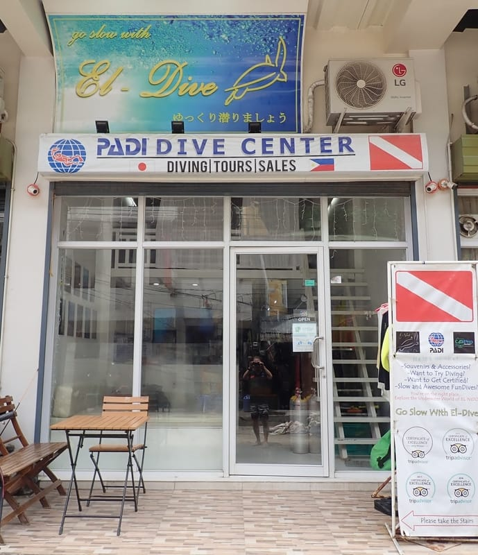 El Dive, our PADI dive center in El Nido