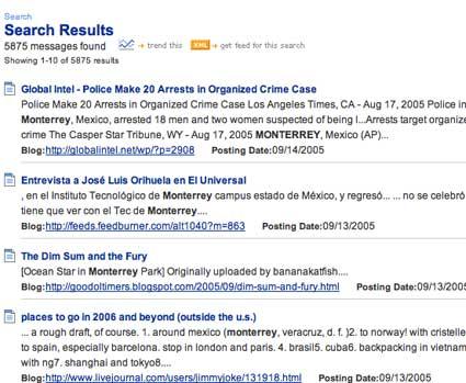 blogpulse search monterrey