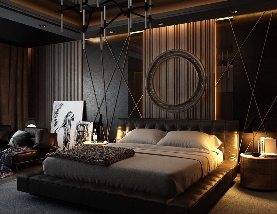 cozy aesthetic design of the bedroom