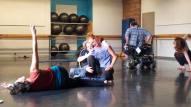 ensayo con la bailarina irlandesa Tara Brandel