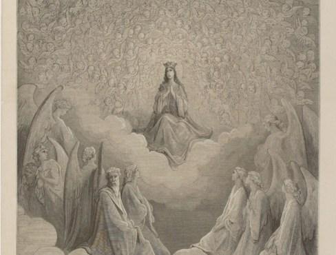 Beatrice en el Empíreo (1872), grabado realizado por Gustave Doré.