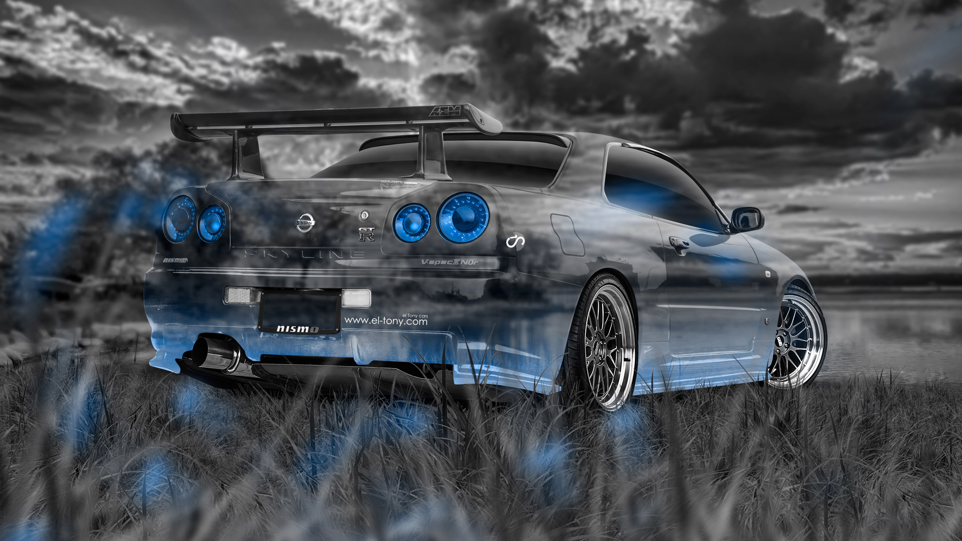 Nissan Skyline Gtr R34 Jdm Crystal Nature Car 2017 El Tony