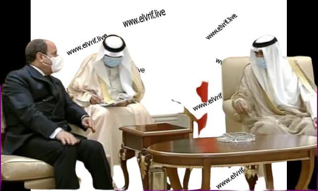 السيسي يعزي في وفاة الشيخ ناصر صباح الأحمد