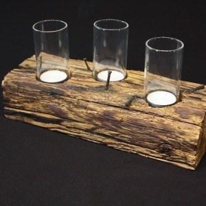 Teelichthalter mit Glaszylinder