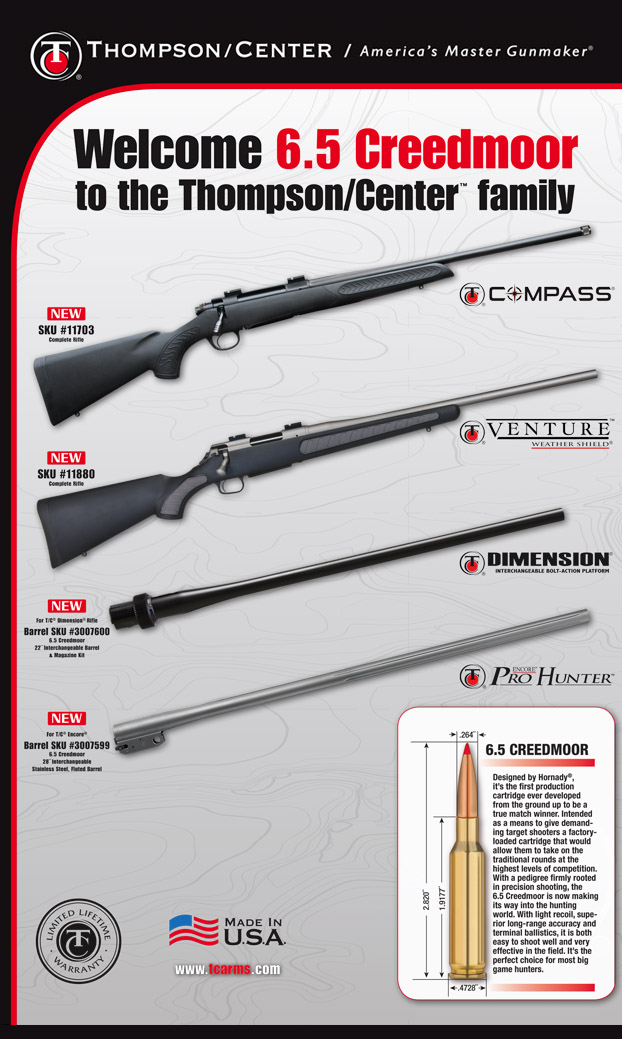 ThompsonCenter Arms Adds 65 Creedmoor to Catalog Guns