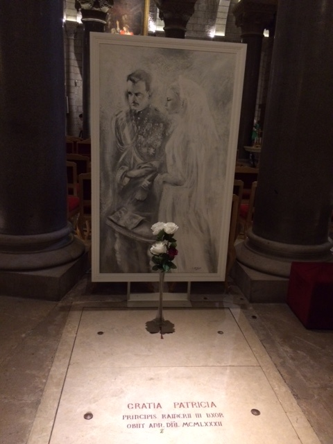 And here rests Princess Grace in the lovely church visitors are welcomed at no charge.