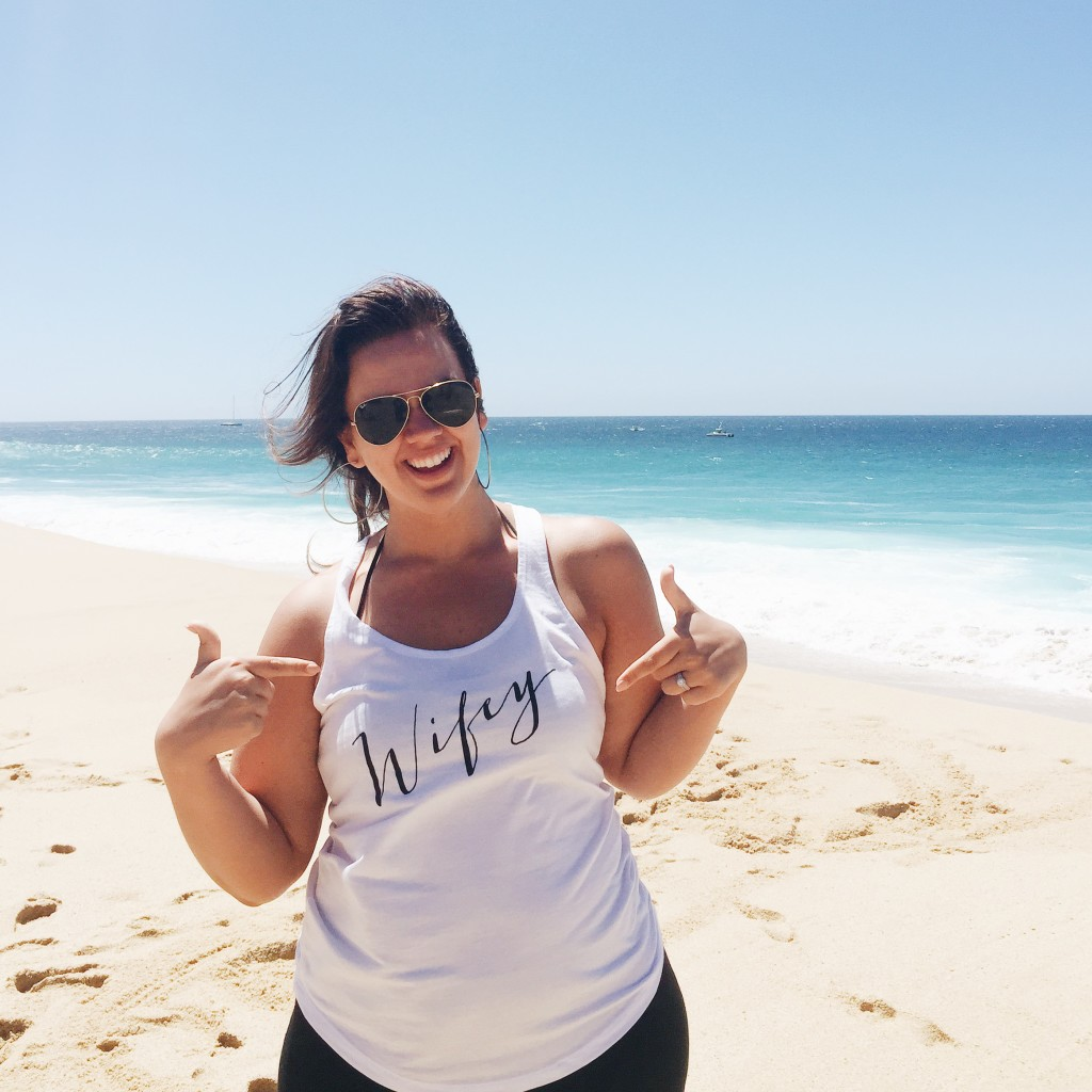 Wifey Tee at Destination Wedding in Cabo San Lucas, Mexico - elanaloo.com
