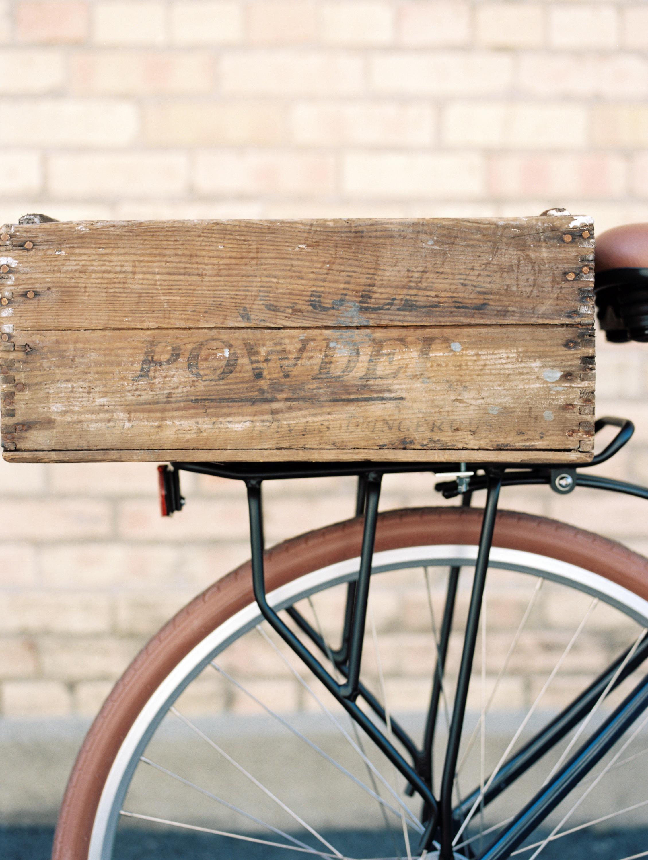 Vintage crate for bicycle - elanaloo.com