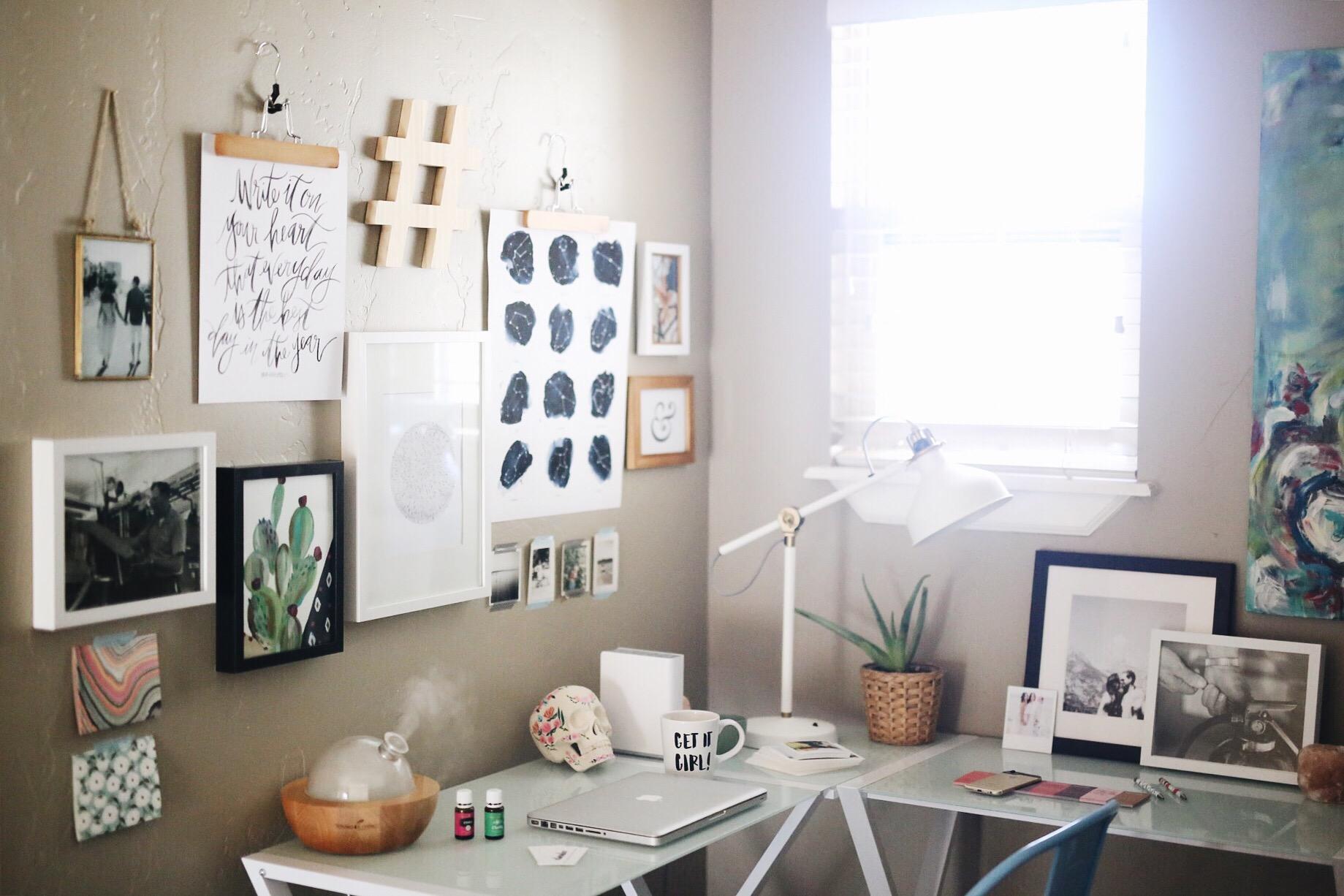 Office Inspiration | Creative Entrepreneur | Office Makeover | elanaloo.com