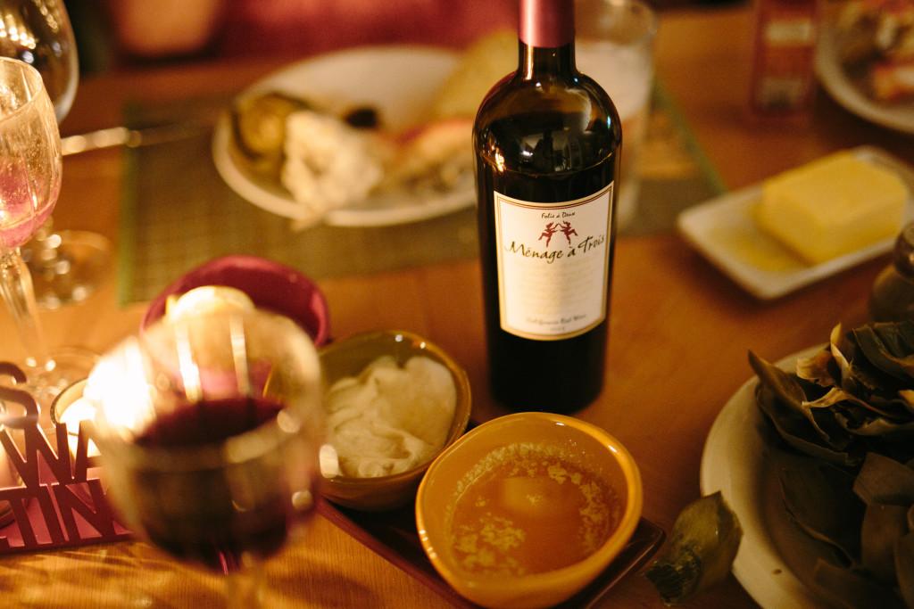 Menage A Trois Red Blend | Christmas Eve Celebration | elanaloo.com