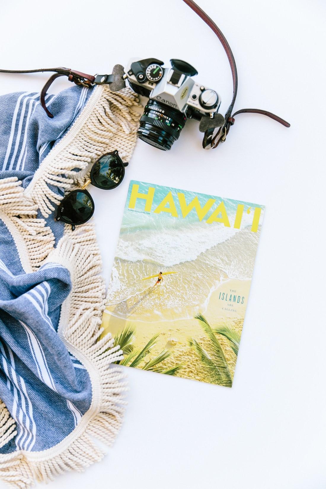 ElanaLoo Featured By Hawaii Magazine | Hawaii Magazine Contributor | Travel Writer ElanaLoo | Travel Blogger | Hawaii Blogger | Perfect Beach Day Set Up | Beach Bag via @elanaloo + elanaloo.com