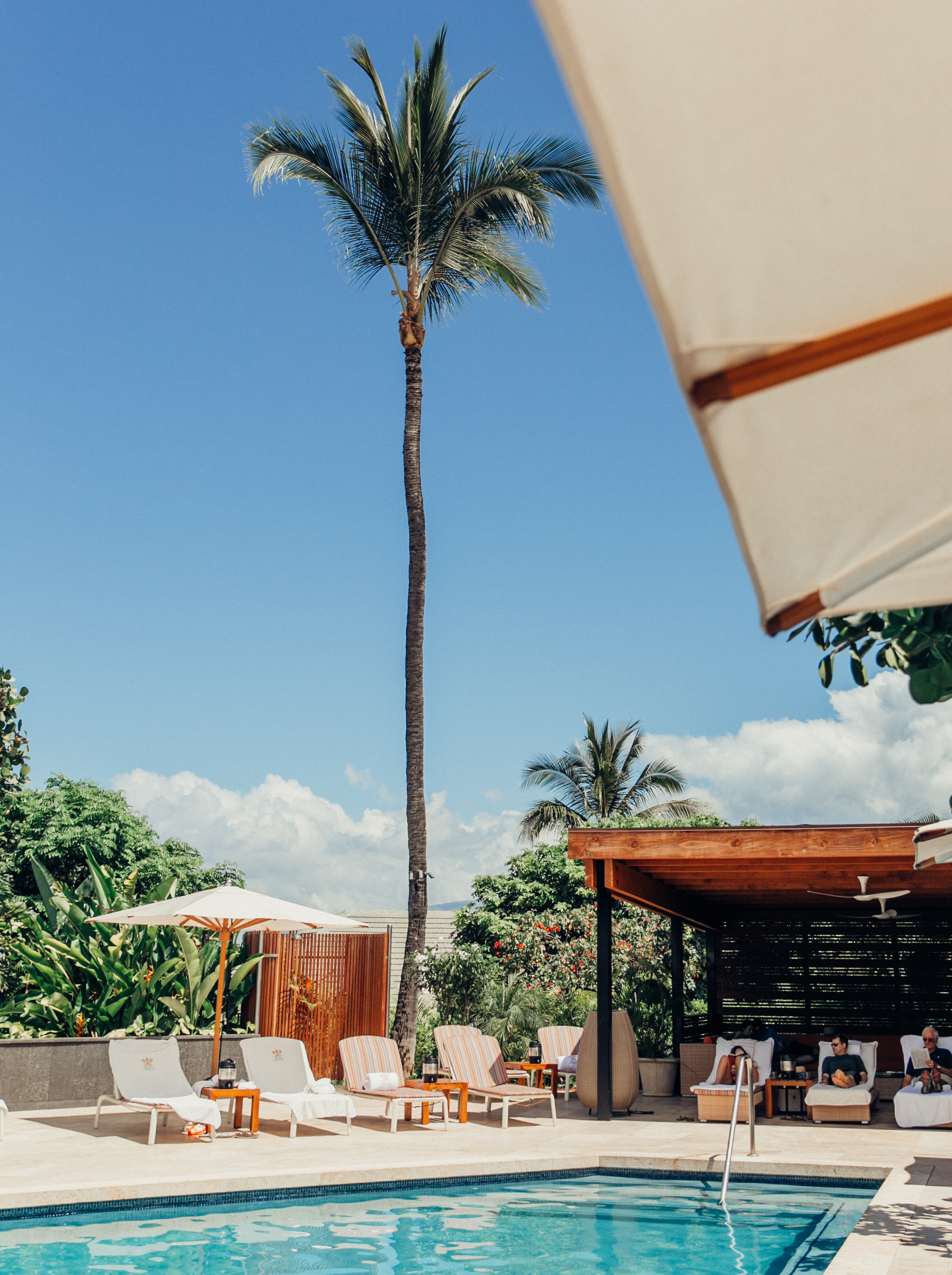 Our Weekend Trip To Maui | Maui Recommendations | Maui Travel Guide | Travel Blogger's Guide To Maui | Best Hotel in Maui | Best Place to Stay in Maui | Romantic Getaway in Maui | Poolside Cabana at Hotel Wailea | Relais & Chateux Property on Maui | Photo by Elana Jadallah via @elanaloo + elanaloo.com
