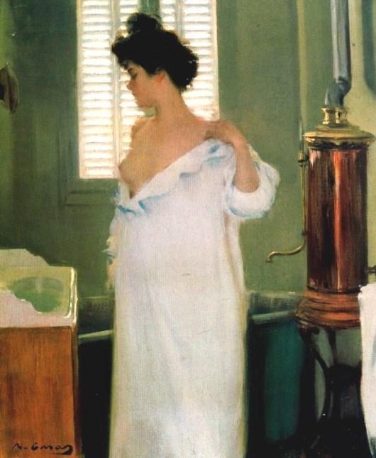 """Ramón Casas (1866-1932). """"Antes del baño"""""""