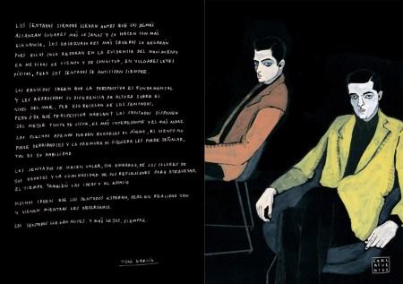 """Una muestra del catálogo de la exposición """"Los sentados"""". Imagen: littleisdrawing.com"""