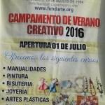 Fundación para el Desarrollo de la Artesanía  Continua con su campamento de verano Creativo 2016.