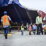Choque del Ferry causa destrozos, pánico y obstrucción del tránsito