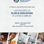 Sinopsis del Estudio sobre la Caracterizacion de los Talleres de Joyeria Artesanal de la Republica Dominicana y agenda  del acto de su  lanzamiento