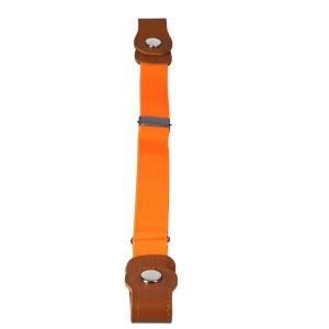 Gespvrije elastische Riem voor kinderen oranje lengte
