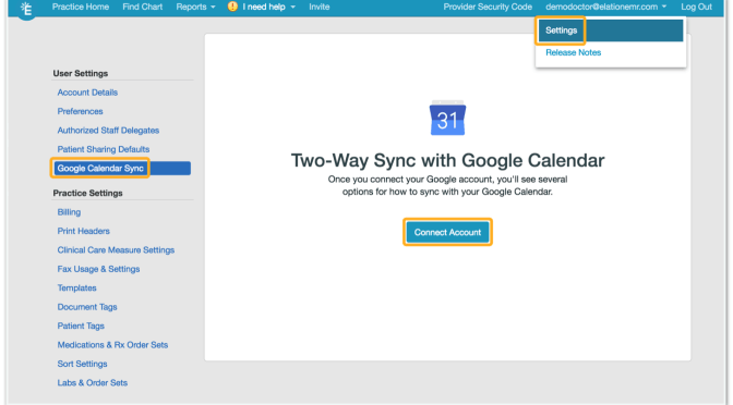 2-Way sync your Elation Schedule with Google Calendar