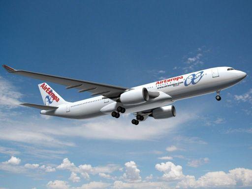 A350 Air Europa. Fuente: http://www.turbosquid.com
