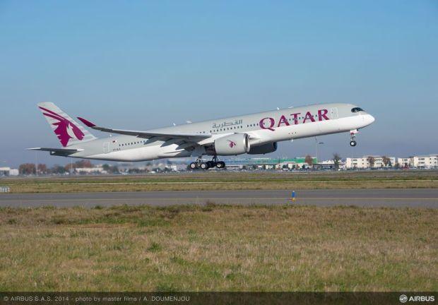 Primer A350 de Qatar. Airbus