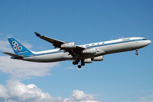 Grandes tiempos para la aviación griega: el A340 de Olympic. Doug Flickr