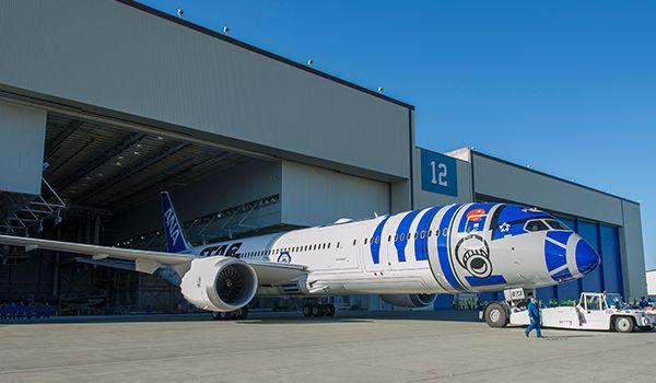 787-9 de ANA vestido de R2-D2