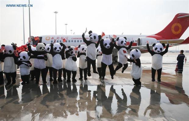 ARJ-21 ayer en su entrega (news.cn)